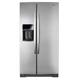Whirlpool 36-Inch Wide Side-By-Side Counter Depth Refrigerator With Storeright Dual Cooling System - 23 Cu. Ft. Monochromatic Stainless Steel
