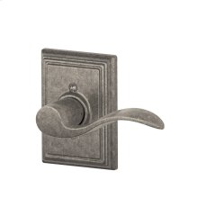 Accent Lever with Addison Trim Non-Turning Lock - Distressed Nickel