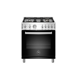 Bertazzoni30 inch All Gas Range, 4 Brass Burner Nero