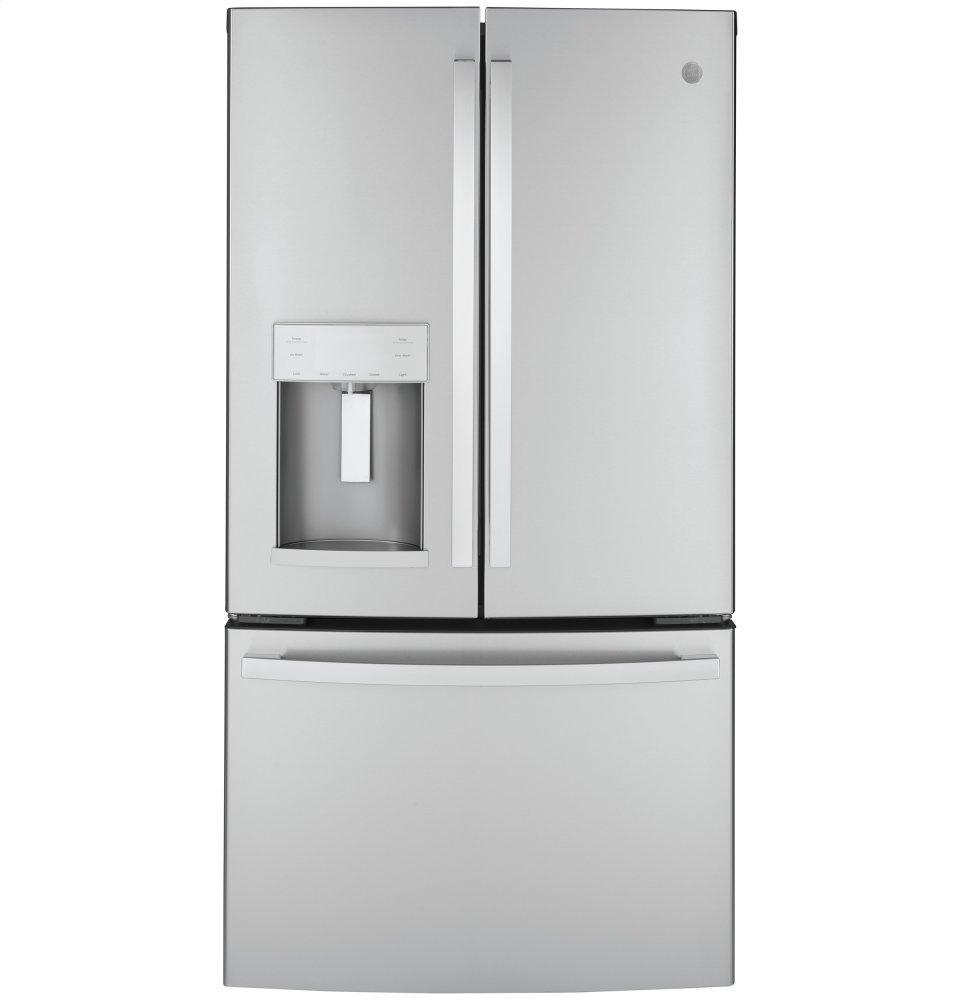 GEGe(r) Energy Star(r) 22.1 Cu. Ft. Counter-Depth Fingerprint Resistant French-Door Refrigerator