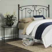 Hinsdale Metal Headboard with Sloping Top Rail and Vertical Spindles, Antiqued Pewter Finish, Queen Product Image