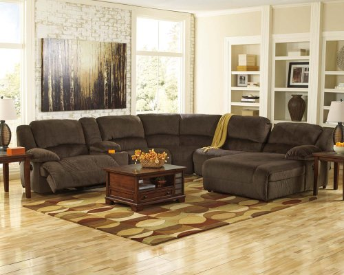 Toletta - Chocolate 6 Piece Sectional