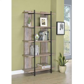 Samson Rustic Weathered Oak Bookcase