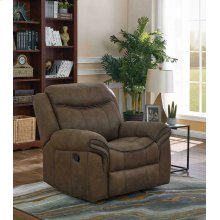 Sawyer Transitional Taupe Glider Recliner