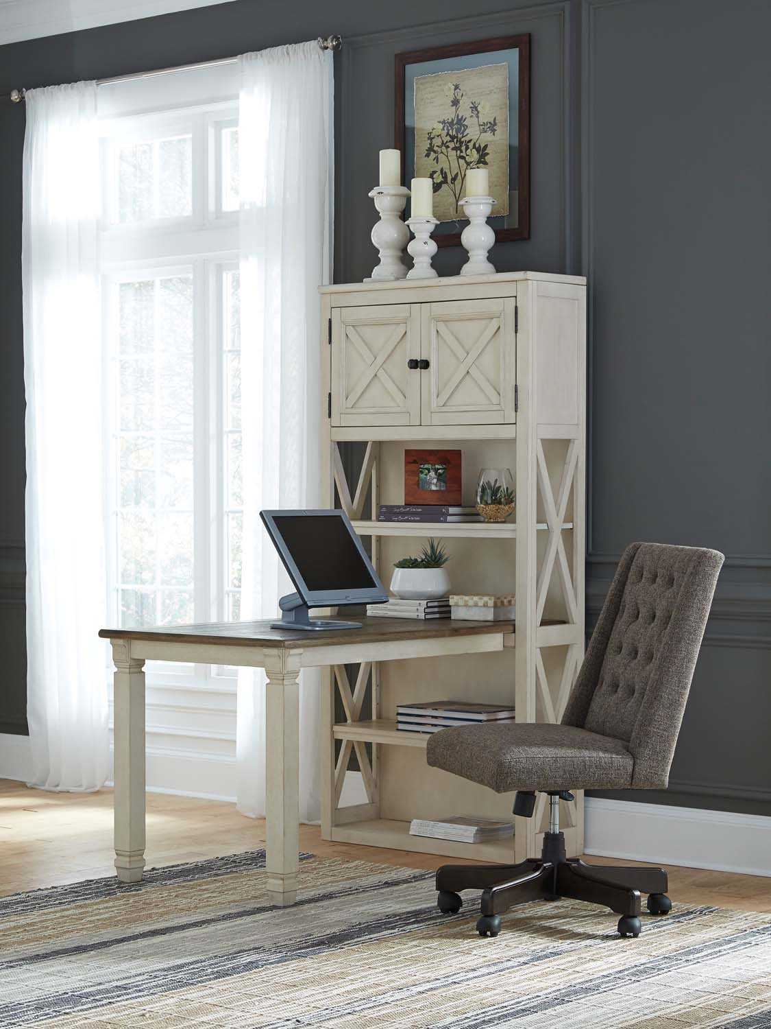 Bolanburg   Two Tone 2 Piece Home Office Set