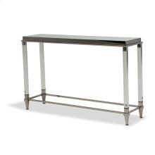 Console Table W/glossy White Glass Top