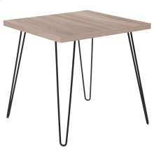 Sonoma Oak Wood Grain Finish End Table with Black Metal Legs