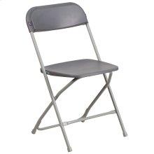 650 lb. Capacity Premium Grey Plastic Folding Chair