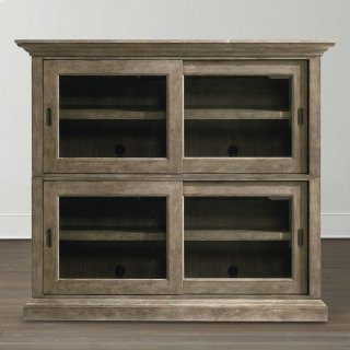 Emporium Smoked Oak Compass Double Sliding Door Stack Unit