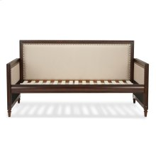 Grandover Wood Daybed with nail head Trim and Cream Upholstery, Espresso Finish, Twin