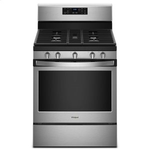 Whirlpool5.0 cu. ft. Freestanding Gas Range with Center Oval Burner Fingerprint Resistant Stainless Steel