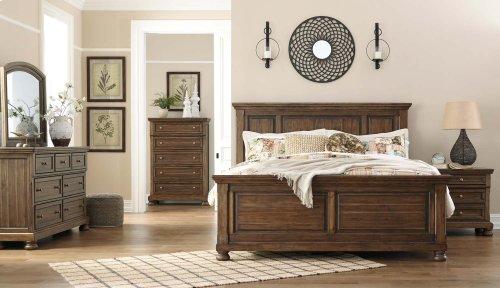 Flynnter - Medium Brown 3 Piece Bed Set (King)