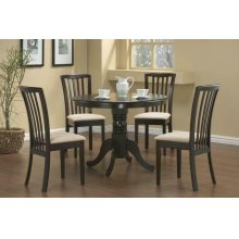 Brannan Casual Cappuccino Dining Five-piece Set