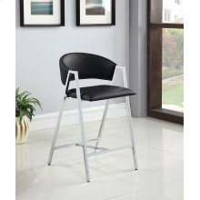 Contemporary Black and Chrome Counter-height Stool