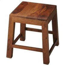 This unpretentious stool is an ideal complement to any modern space. Featuring the alluring grain of its solid sheesham wood construction, it is lightweight for easy transport from one space to the next, with sturdy construction to withstand everyday use.