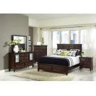 Transitional Cappuccino Queen Five-piece Bedroom Set Product Image