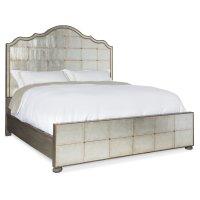 Bedroom Arabella Queen Mirrored Panel Bed Product Image