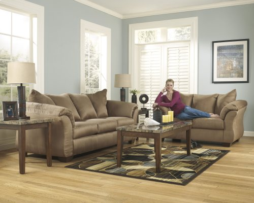 Ashley Sofa & Love Seat Package - Darcy - Mocha