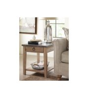 Monteverdi by Rachael Ray Metal Top End Table Product Image