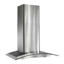 "35-7/16"" Arched Glass Chimney Hood"