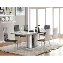 Broderick Contemporary Black and White Five-piece Dining Set