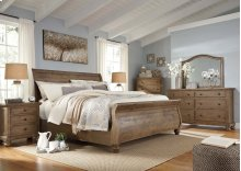 Trishley - Light Brown 3 Piece Bed Set (King)