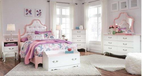 Laddi - White/Pink 2 Piece Bed Set (Full)