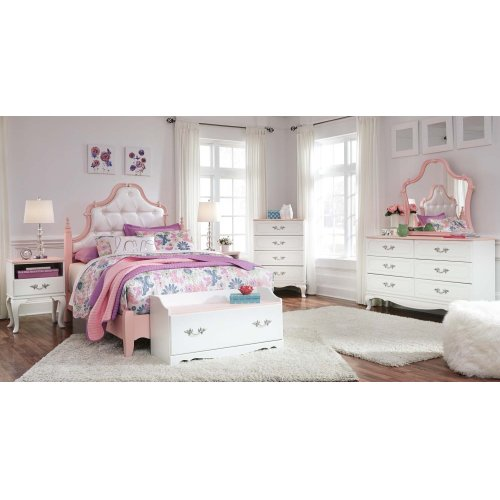 Laddi White Pink 2 Piece Bedroom Set