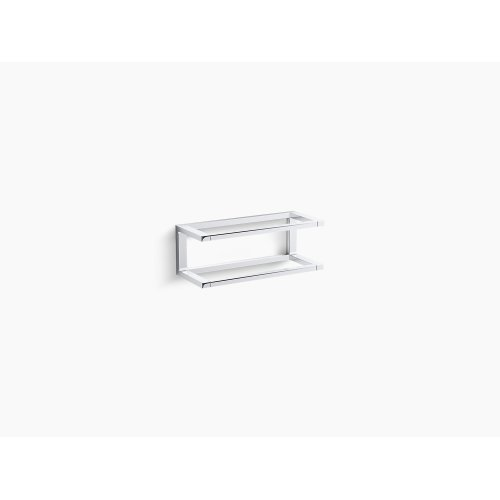 "Polished Chrome 12"" Towel Bar Frame"