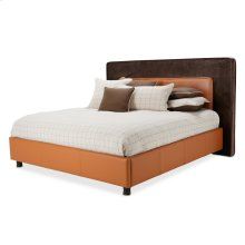 Cal King Upholstered Tufted Bed