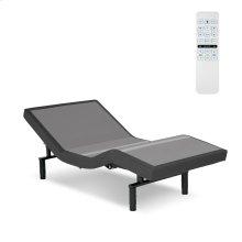 Surge Adjustable Bed Base with Full Body Massage and Wallhugger Technology, Flint Onyx Finish, Twin XL
