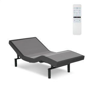 Leggett And Platt Surge Adjustable Bed Base With Full Body Massage And Wallhugger Technology, Flint Onyx Finish, Twin Xl