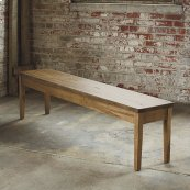 """Bench*Made Maple Live Edge 70"""" Hearthside Bench"""