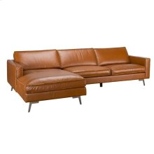 Travis Sofa wLAF Chaise Cognac