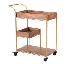 Bar Cart With Tray Brown