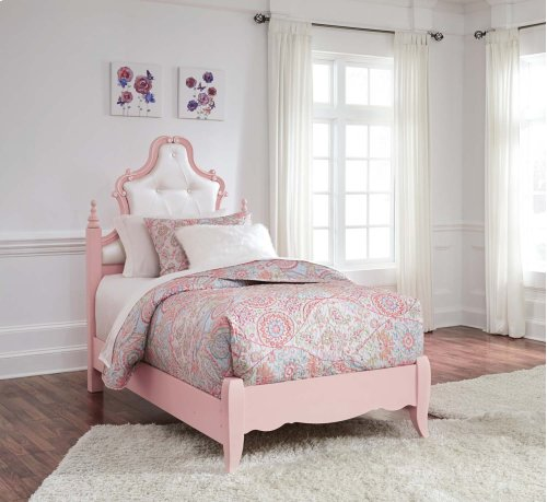 Laddi - White/Pink 2 Piece Bed Set (Twin)