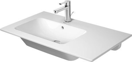 Me By Starck Furniture Washbasin Asymmetric Without Faucet Hole