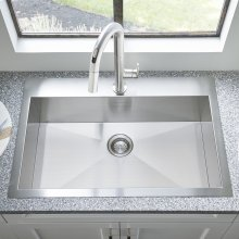 "Edgewater® 33x22"" ADA Single Bowl Stainless Steel Kitchen Sink  American Standard - Stainless Steel"