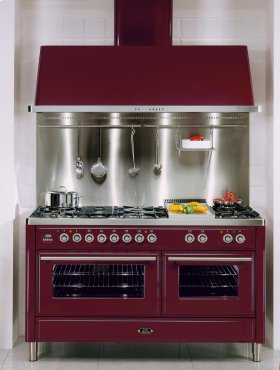 """Emerald Green 60"""" Griddle + French Top Majestic Techno Dual Fuel Range"""