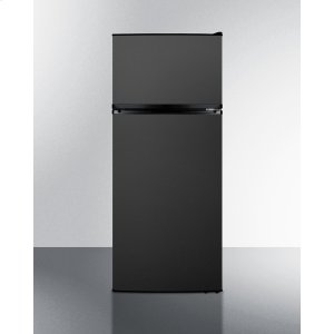 Energy Star Qualified ADA Compliant Refrigerator-freezer With Factory-installed Icemaker and Black Stainless Steel Doors -