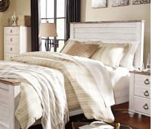 Willowton Queen Bedroom Group: Queen Bed, Nightstand, Dresser & Mirror