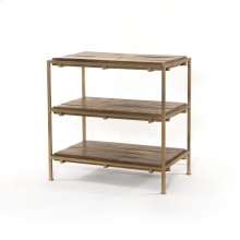Aged Brass Finish Simien Nightstand