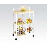 White Kitchen Cart Product Image
