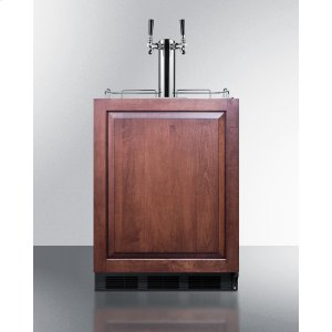 SummitBuilt-in Undercounter ADA Height Commercially Listed Dual Tap Wine Dispenser With Panel-ready Door and Black Cabinet