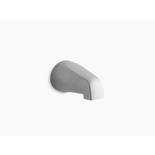 """Vibrant Brushed Nickel 4-7/16"""" Non-diverter Spout With Slip-fit Connection"""