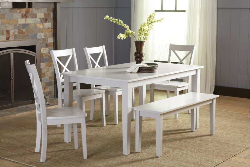 Fabulous 6Pc25260Wbench In By Jofran In Leominster Ma Simplicity Andrewgaddart Wooden Chair Designs For Living Room Andrewgaddartcom