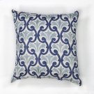 "L108 Ivory/blue Chateaux Pillow 18"" X 18"" Product Image"