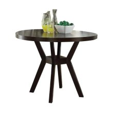 "ESPRESSO DINING TABLE, 48""DIA"