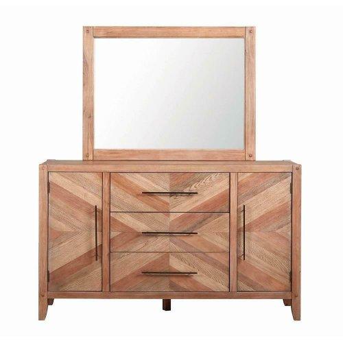 Auburn White-washed Mirror