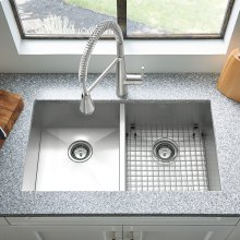 Edgewater 33x22 Double Bowl Stainless Steel Kitchen Sink  American Standard - Stainless Steel